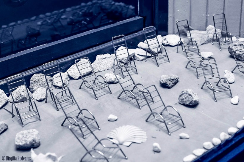 Blue Empty Chairs