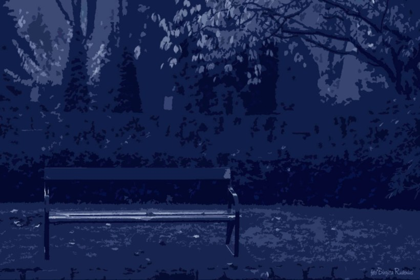 Blue Bench for Lovers