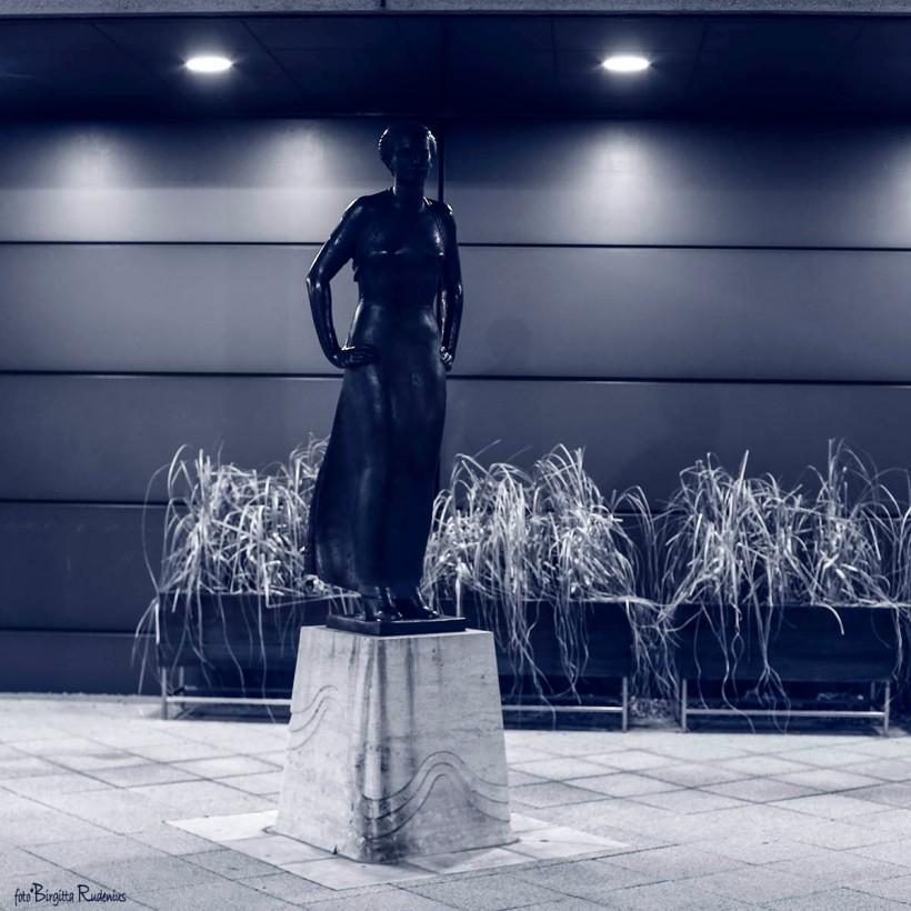 Blue Statue Lady