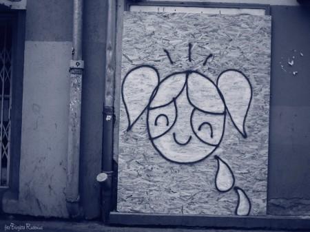 Blue Street ART - Bright Girl