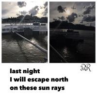 Sliding on Sun Rays